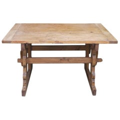 18th Century Extensible 8/10 People Dining Fir Wood Table