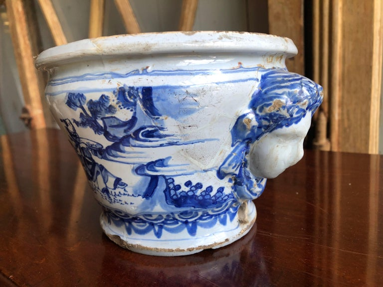 18th Century Faience Cachepot from Nevers For Sale 1