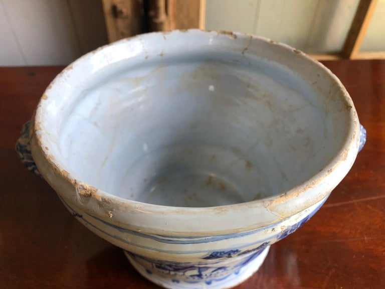 18th Century Faience Cachepot from Nevers For Sale 2