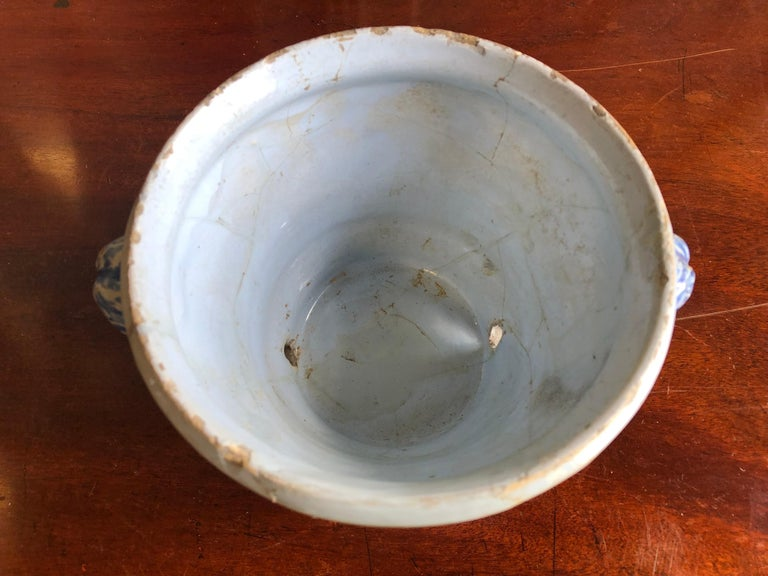 18th Century Faience Cachepot from Nevers For Sale 3