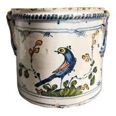 18th Century Faience Cache Pot, Nevers