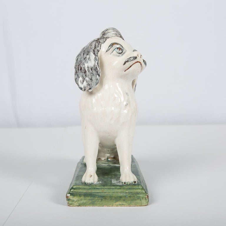18th Century Faience Puppy Made in Brussels circa 1760 For Sale 2