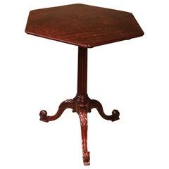 18th Century Figured Mahogany Tripod Table