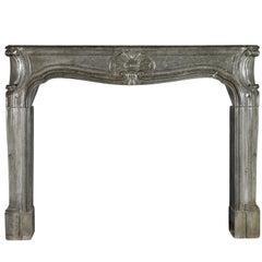 18th Century Fine European Original Antique Fireplace Surround