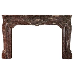 18th Century Fine European Palace Grand Marble Fireplace Surround