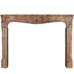 18th Century Fine French Marble Antique Fireplace Surround