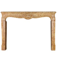 18th Century Fine French Regency Period Vintage Fireplace Surround in Stone