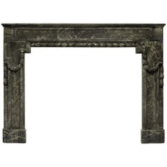 18th Century Fireplace Mantel in Gris d'Ardenne Marble