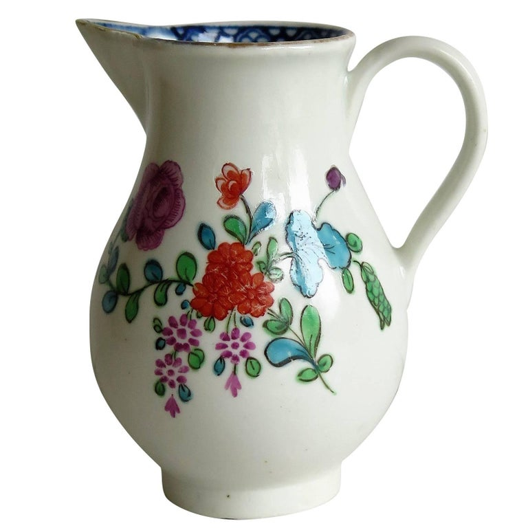 First Period Worcester Sparrow Beak Jug Porcelain, circa 1770 For Sale