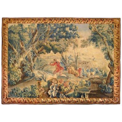 18th Century Flemish Pastoral Hunting Tapestry