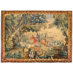 18th Century Flemish Pastoral Hunting Tapestry