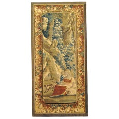18th Century Flemish Rustic Tapestry Panel