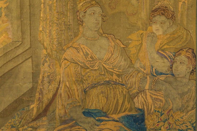 18th Century Flemish Tapestry In Distressed Condition For Sale In New Orleans, LA