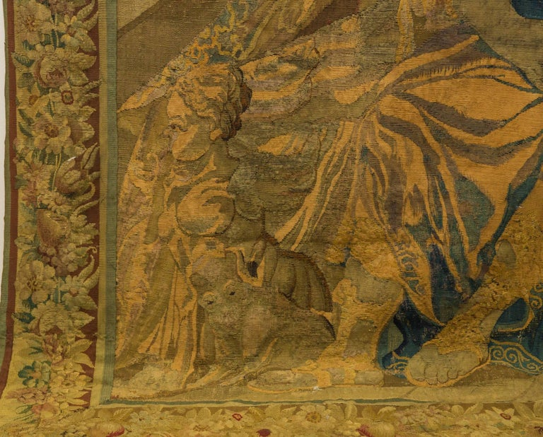 18th Century and Earlier 18th Century Flemish Tapestry For Sale
