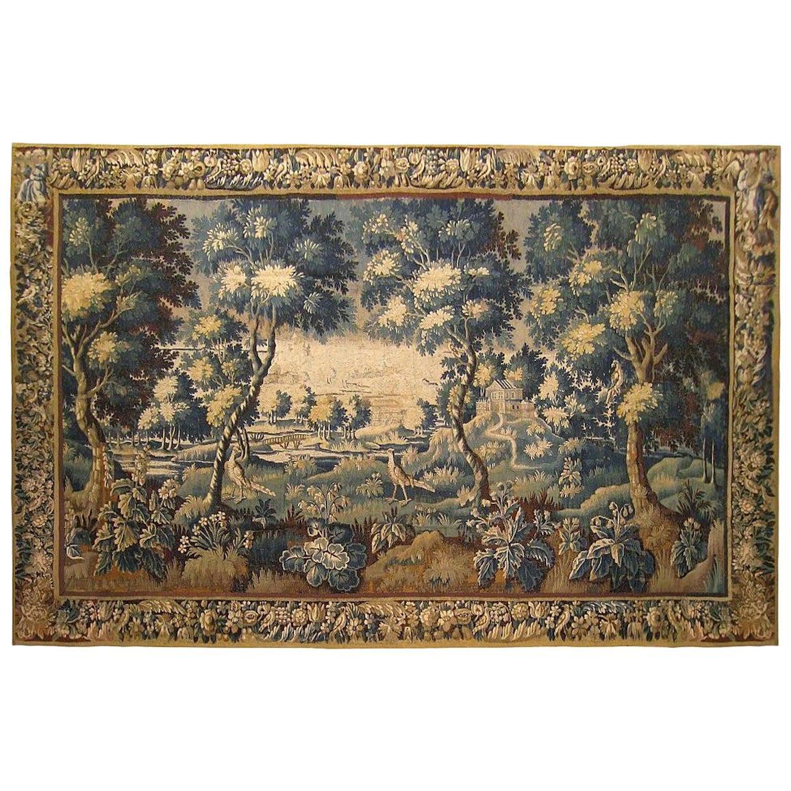 18th Century Flemish Verdure Landscape Tapestry