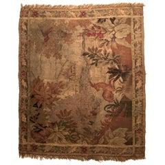 18th Century Flemish Verdure Scenic Landscape Tapestry