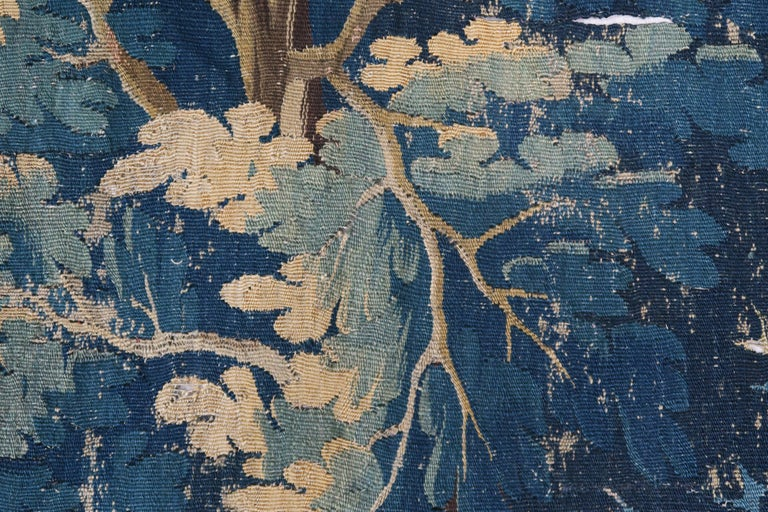 18th Century Flemish Verdure Tapestry with Border For Sale 3