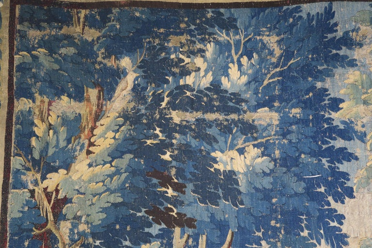 18th Century Flemish Verdure Tapestry with Border For Sale 4