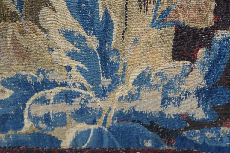 18th Century Flemish Verdure Tapestry with Border For Sale 5