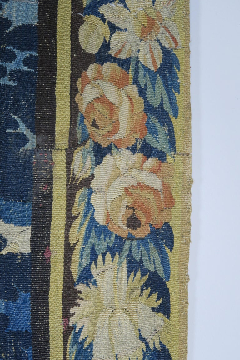 18th Century Flemish Verdure Tapestry with Border For Sale 6