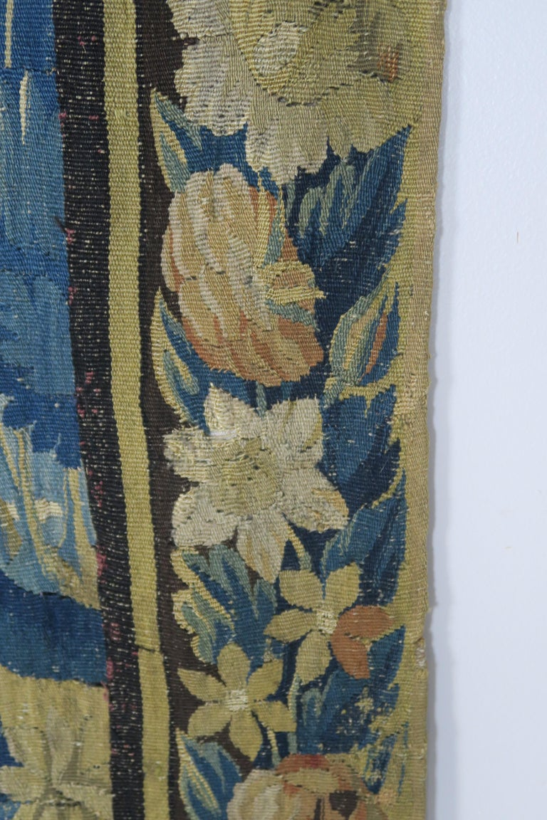 18th Century Flemish Verdure Tapestry with Border For Sale 7