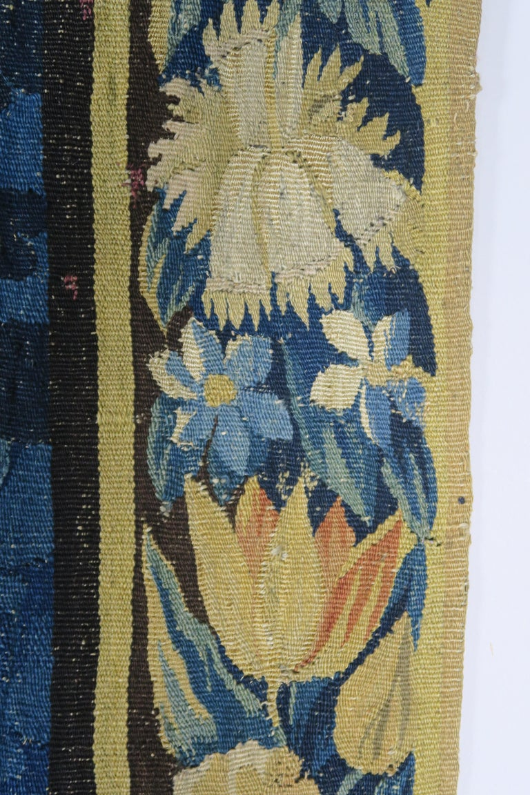 18th Century Flemish Verdure Tapestry with Border For Sale 8
