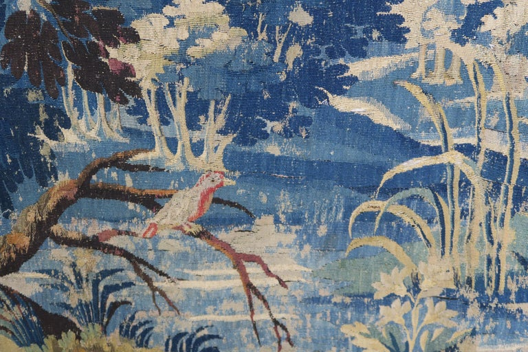 Other 18th Century Flemish Verdure Tapestry with Border For Sale