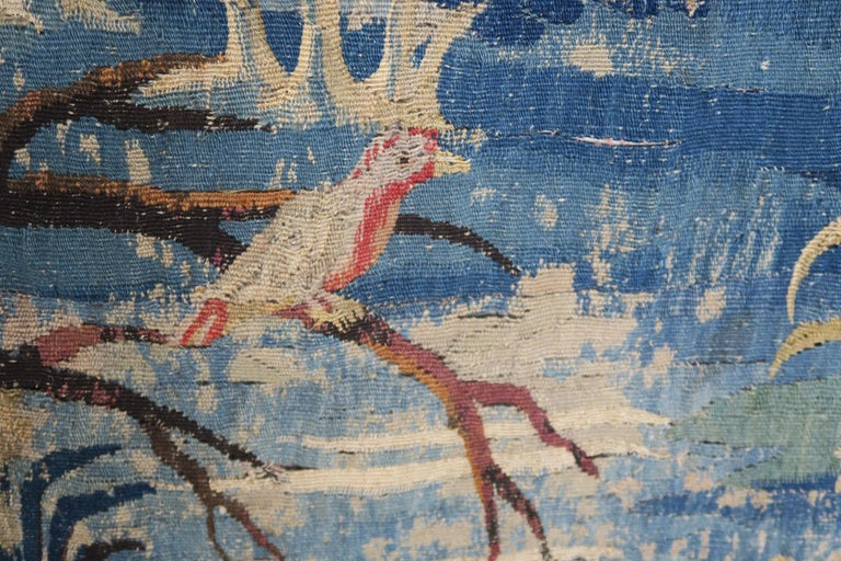 Belgian 18th Century Flemish Verdure Tapestry with Border For Sale