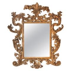 18th Century Florentine Mirror with an Elegant Worn Finish