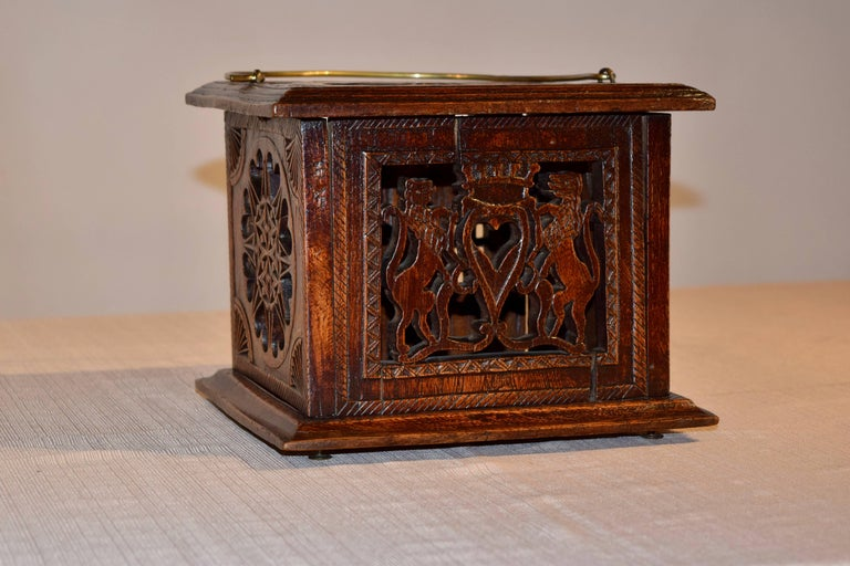 Hand-Carved 18th Century Foot Warmer For Sale
