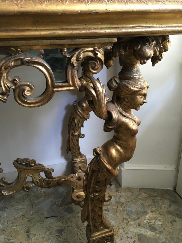 Italian 18th Century Pair of Console Wood Rectangular Table Pearl Tesserae Turin 1725  For Sale