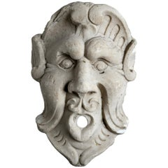 18th Century Fountain Mask Italy Marble