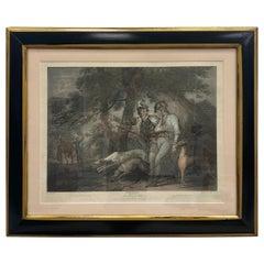 """18th Century Framed Engraving of Scene from Shakespeares """"King Henry VI"""""""