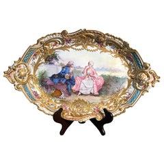 18th Century France Louis XV Porcelain Sévres Dish, 1758