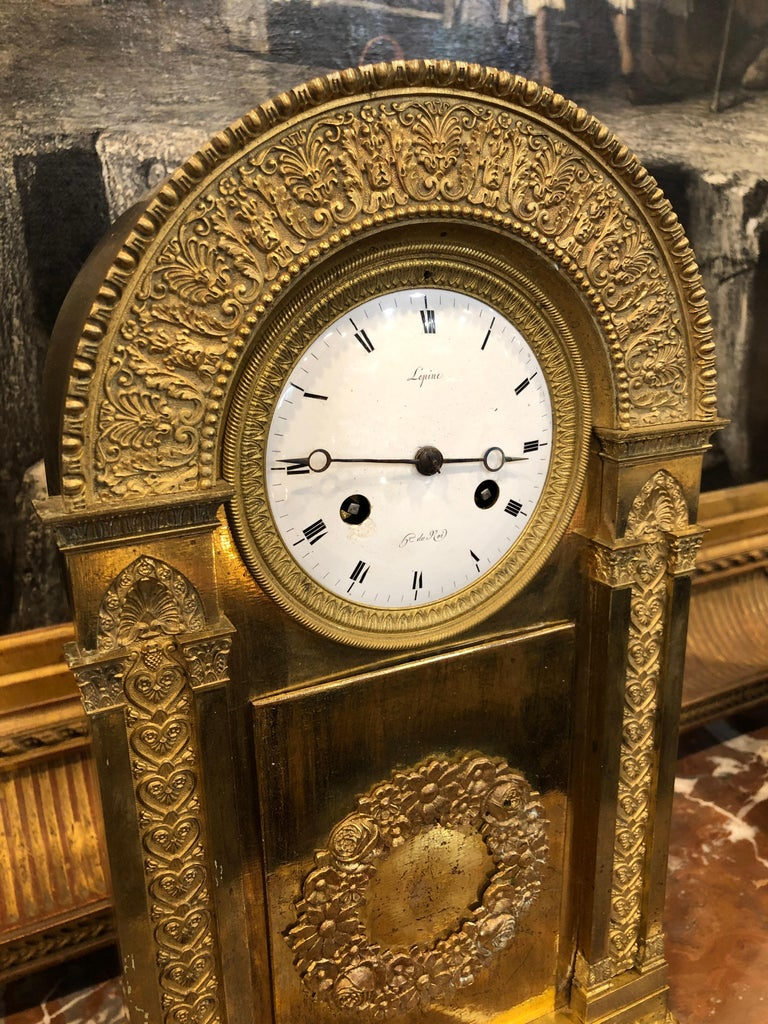 Wonderful golden clock, signed Jean-Antoine Lépine,