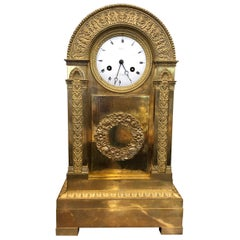 18th Century France Louis XVI Gilt Mantel Clock by Lepine, 1790s