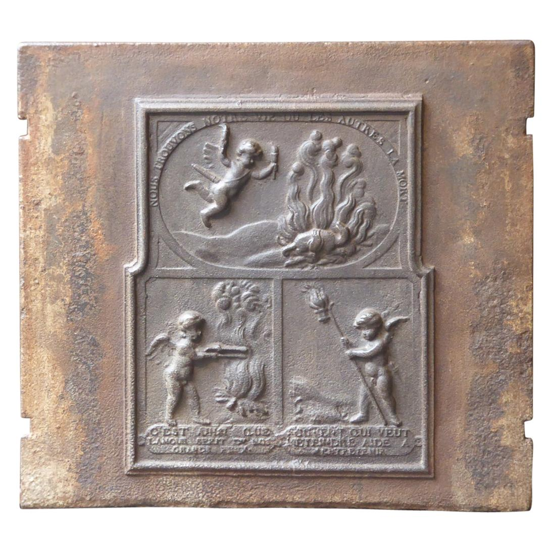 18th Century French 'Allegory of Love' Fireback