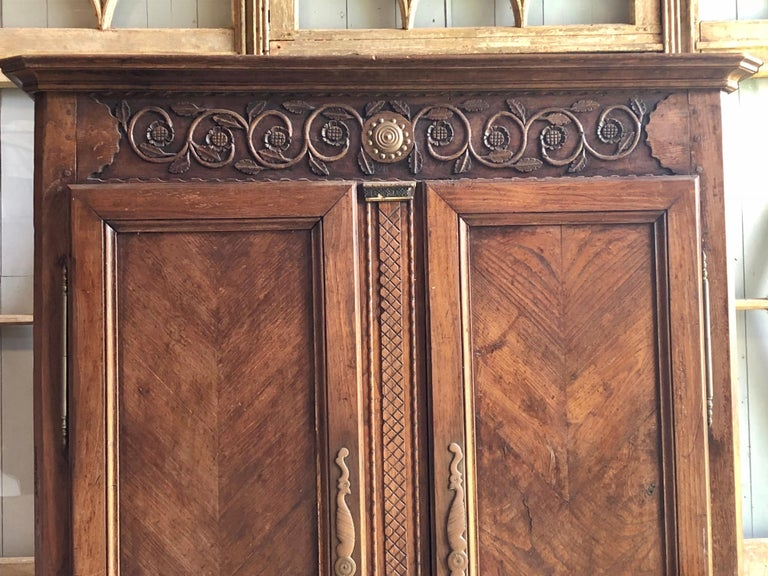 French Provincial 18th Century French Armoire For Sale