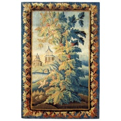 18th Century French Aubusson Chinoiserie Tapestry