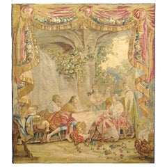18th Century French Aubusson Mythological Tapestry, with Telemachus & Calypso