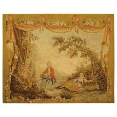 18th Century French Aubusson Pastoral Tapestry