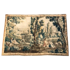 18th Century French Aubusson Pastoral Tapestry in the Manner of Boucher