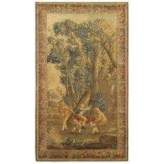 18th Century French Aubusson Rustic Tapestry