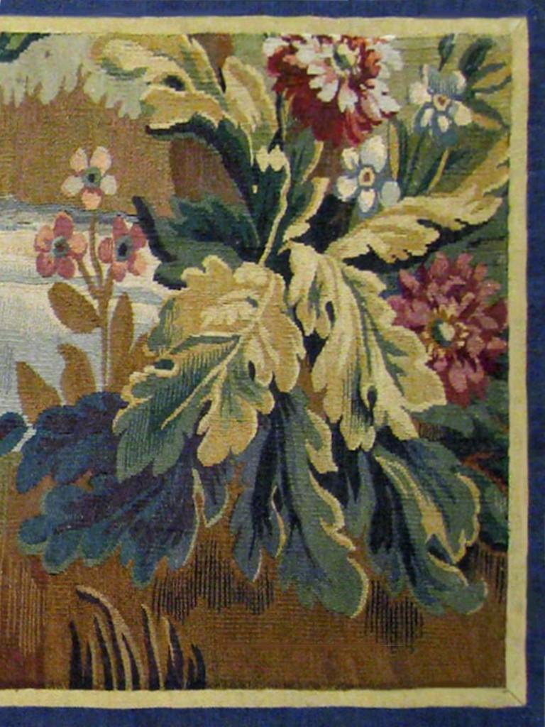 18th Century French Aubusson Verdure Landscape Tapestry In Good Condition For Sale In New York, NY