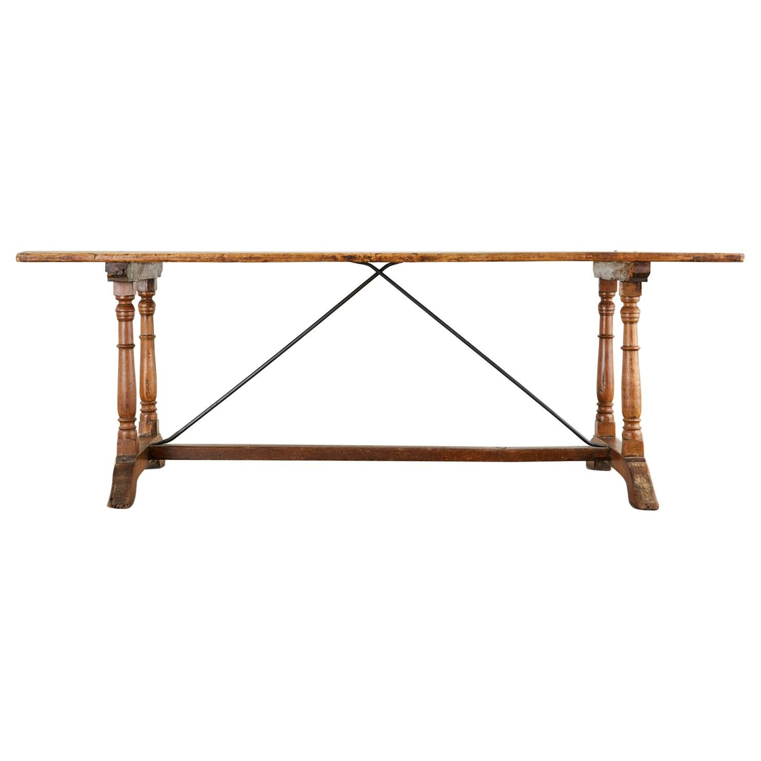 18th Century French Baroque Trestle Dining Table