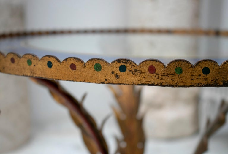 18th Century French Bronze and Painted Top Table with Oriental Influence For Sale 1