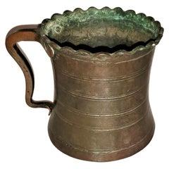 18th Century French Bronze Tankard