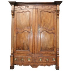 18th Century French Cabinet Made of Walnut and Oak