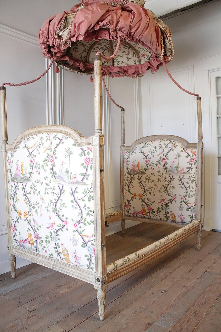 18th Century French Canopy Daybed With Toile Upholstery At 1stdibs