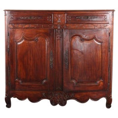 18th Century French Carved Cherry Louis XV Style Buffet